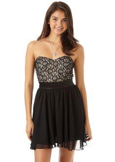 dELiAs > Lace Bodice And Chiffon Dress > dresses > lace & crochet