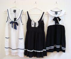 Love the white sailor dress! Sailor Outfits, Sailor Dress, Cute Outfits, Soft Grunge, Nautical Dress, Nautical Fashion, Sweet Dress, Holiday Outfits, Dress Me Up