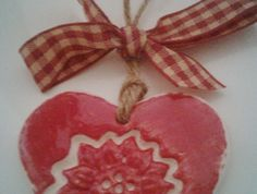 Red Sunflower Ceramic Love Heart (small)