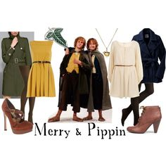 "Lord of the Rings/ The Hobbit-  ""Merry and Pippin"" by companionclothes on Polyvore"