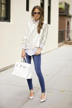 Sweater: Cynthia Rowley, similar | Button Down: Elizabeth and James | Jeans: Armani Exchange | Shoes: Manolo Blahnik