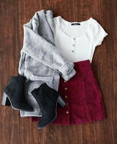 58 trendy skirt outfits with tights winter cardigans 58 trendige Rock-Outfits mit Winterstrumpfhosen Cute Casual Outfits, Casual Skirts, Trendy Dresses, Fall Outfits, Summer Outfits, Dress Casual, Rock Outfits, Casual Chic, Dress Outfits