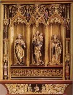 Hongrie médiévale: (lien avec Niclaus Gerhaert au Liebieghaus)  La partie centrale de l'autel principal de Kassa (Kosice), 1474-1477