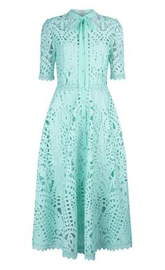 Composition:100% Polyester; Contrast: 100% Polyester; Lining: 92% Polyester, 8% Elastane Fit: Fitted bodice, flared skirt Lining: Slip lining Length: Midi length Wash Care Instructions: Dry clean only