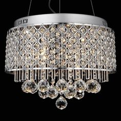 5 Cuboid Square Clear Crystal Pendant Light Chandelier Fixtures Lamp Ceiling New