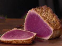 Marinated Seared Tuna recipe from Anne Burrell via Food Network Lime Recipes, Tuna Recipes, Seafood Recipes, Healthy Recipes, Healthy Eats, Recipies, Celiac Recipes, Paleo Food, Meal Recipes