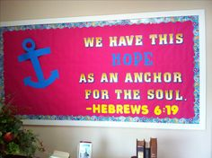 Cute and easy bulletin board for church.
