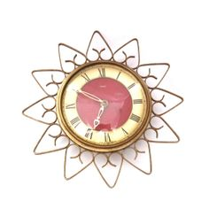Vintage Smiths Sunflower Wall Clock   Mechanical by TwoTimeVintage