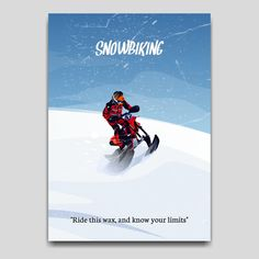 Snowbiking sport poster artwork Design for your collection at displate Artwork Design, Cool Artwork, Print Artist, Poster Prints, Snow, Metal, Sports, Movie Posters, Collection
