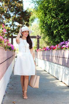 6288e5e2f79 Little White Dress. Little White DressesStylish DressesChic OutfitsSummer  OutfitsModest FashionNude SandalsPanama ...