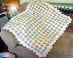 Tunisian Entrelac Style Baby Blanket by HomespunByDesign on Etsy, $40.00