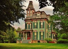 The Davenport-Curtiss House constructed in 1875 in the Second Empire Style… #victorianarchitecture