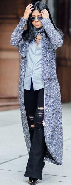 Long Tweed Coat Fall Street Style Inspo by Walk In Wanderland