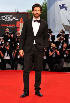 "Francesco Scianna in #dolcegabbana suit on the red carpet of ""To the Wonder"" during the 69th Venice International Film Festival"