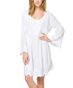 Love this Peasant Embroidered Smocked Dress on #zulily! #zulilyfinds