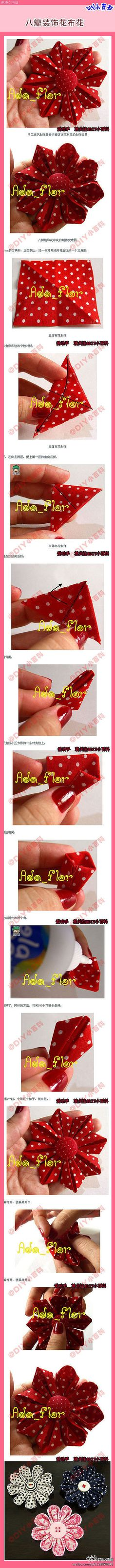 Fabric & Ribbon Flowers