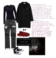 it - the thing look grunge  black and red. it  - a coisa conjunto grunge e preto e vermelho. by waspfactory on Polyvore featuring polyvore Alexander Wang Madewell Isabel Marant Lacoste fashion style clothing