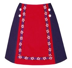 chalet skirt color block with vintage by madewithlovebyhannah