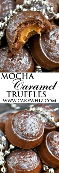 These MOCHA CARAMEL COOKIE DOUGH TRUFFLES are composed of chocolate shells, filled with mocha cookie dough and an ooey gooey caramel center. These mocha caramel truffles are easy to make with simple ingredients. From cakewhiz.com