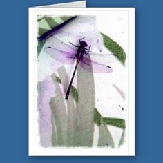 Dragonfly Art Card  http://www.zazzle.com/kapsgreetingcards?rf=238398084631009769