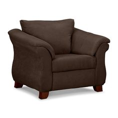 Adrian Chocolate Upholstery Chair - Value City Furniture $279.99