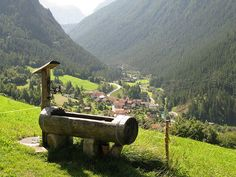Water pump in Davos, Switzerland.  What a beautiful place to pump water.