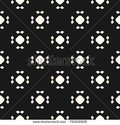 Simple seamless pattern with rounded figures, floral shapes, circles. Stylish monochrome geometric background. Abstract minimalist black and white ornament. Dark repeat design for decor, covers, cards