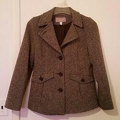 !WINTER SALE!  GUC Brown Patterned Pea Coat Size Medium, I bought this a few years ago & it's been very well taken care of. It's too small & I'm finally ready to pass it on to someone who can wear it ?? Croft & Barrow Jackets & Coats Pea Coats