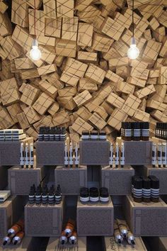 merch display at aesop {by march studio}