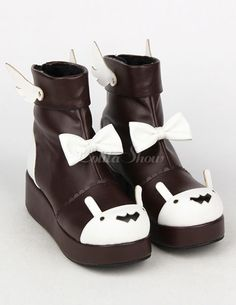 Lolita High Platform Shoes With Bowknot and Wings Funky Shoes, Crazy Shoes, Cute Shoes, Kawaii Shoes, Kawaii Clothes, Kawaii Fashion, Lolita Fashion, Funky Outfits, Cute Outfits