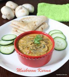 how to make mushroom kurma in tamil