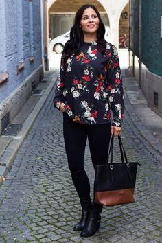 Kleidermädchen - Herbst Outfit // Blazer - H&M // Blouse - mint&berry via Zalando // Jeans - BDG via Urban Outfitters // Boots - H&M // Shopper - Tamaris via Zalando // Lip stick MAC //