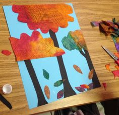 Ask students to make their subject matter touch the top and bottom of their paper for more dynamic layouts. #artprojectsforkids #collage