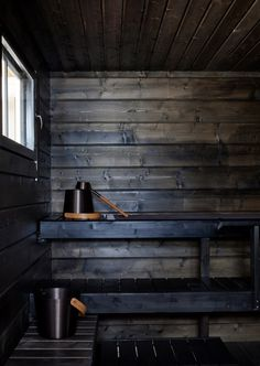 #Tikkurila's quick drying natural wax protects #wooden surfaces in humid rooms i.e. #sauna, #steam rooms.