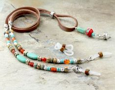 Your place to buy and sell all things handmade Eyeglass Holder, Necklace Holder, Eyeglasses, Beaded Bracelets, Jewels, Crafting, Turquoise, House, Etsy
