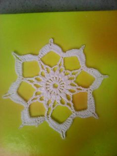 martin1984 / Háčkovaná hviezdička 1 Crochet Earrings, Handmade, Hand Made, Handarbeit