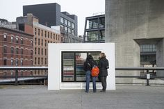 On a sunny day, a refrigerator stocked with refreshing drinks is a welcome sight. But as tourists on the elevated High Line ...