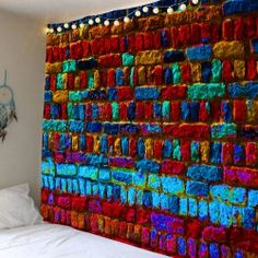 Home Decor Colorful Brick Print Wall Hanging Tapestry