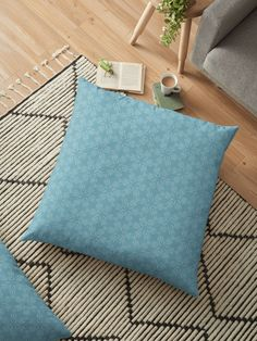 """Milky Blue #1"" Floor Pillow by Kettukas 