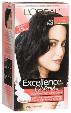 L'oreal Excellence Cream -1 Black Natural, Hair Color, (Pack of 3) ** Click image to review more details.