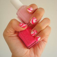 nails   my nails every other week. For Valentine's Day, I marbled my nails ...