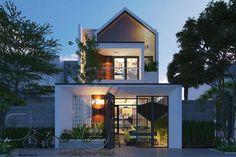 Ideas for exterior shop modern architecture House Architecture Styles, Modern Architecture, Morden House, Narrow House, Facade House, Tropical Houses, Minimalist Home, Modern House Design, Exterior Design