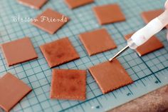 How to make your own dollhouse tiles from polymer clay!