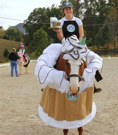 starbucks frappicino 12 horses with better costumes than you idea for your next halloween night lol