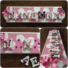 Name Puzzle, Minnie Mouse Pink, Pink Polka Dots, Unique Jewelry, Handmade Gifts, Awesome, Etsy, Kid Craft Gifts, Handcrafted Gifts