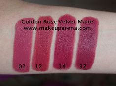 Golden Rose Velvet Matte 02, 12, 14, 32