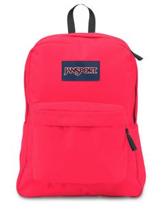 One large main compartment. Straight-cut, padded shoulder straps. Front utility pocket with organizer. 2/3 padded back panel. Web haul handle. SPECIFICATIONS: Color: Fluorescent Red Capacity: 1550cu i