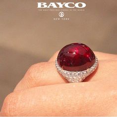 An exceptional cabochon Ruby by Bayco.