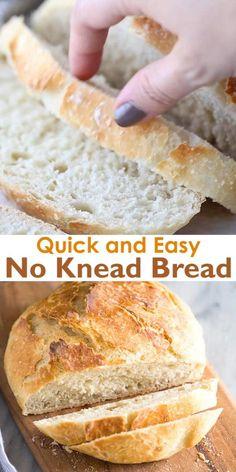 Artisan Bread Recipes, Dutch Oven Recipes, Quick Bread Recipes, Bread Machine Recipes, Baking Recipes, Easy Overnight Bread Recipe, Easy Bread Loaf Recipe, Easy Homemade Bread Recipes, Ciabatta Bread Recipe