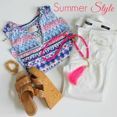 We all have a go-to style we love and this is my favorite summer style! ‪#‎summerfashion‬ ‪#‎ootd‬ ‪#‎whatiwore‬ ‪#‎graceandbeautystyle‬